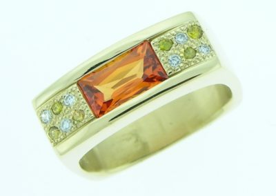 orange sapph. ring